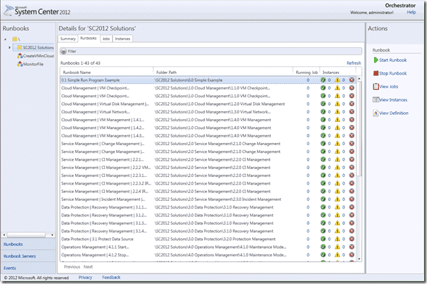 System Center Orchestrator 2012 - Orchestration Console