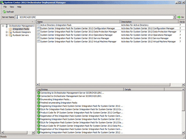 System Center Orchestrator 2012 RTM Deployment Manager