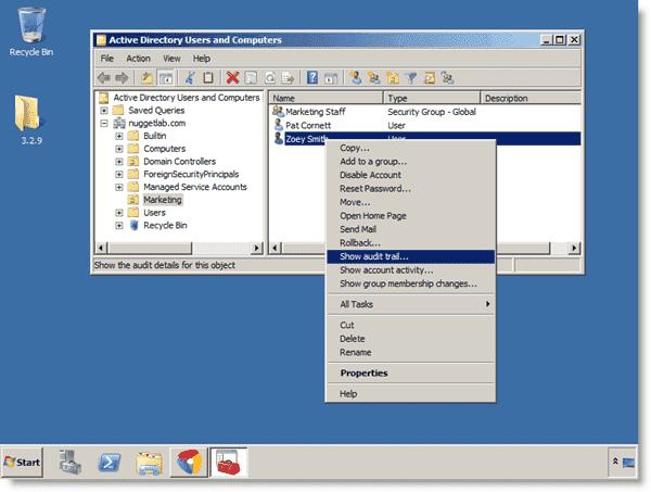Active Directory auditing - Blackbird Auditor -  Blackbird RSAT extensions in action