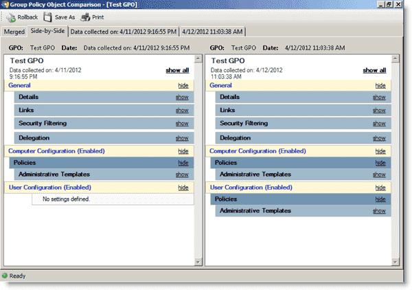 Active Directory auditing - Blackbird Auditor - GPO change analysis