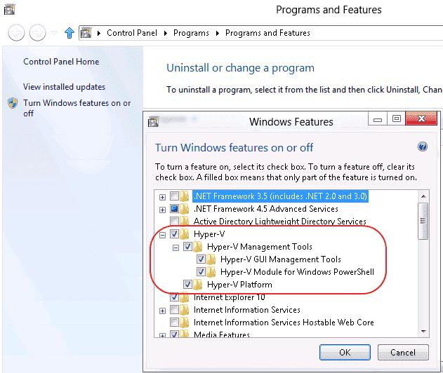 Install Hyper V in Windows 8