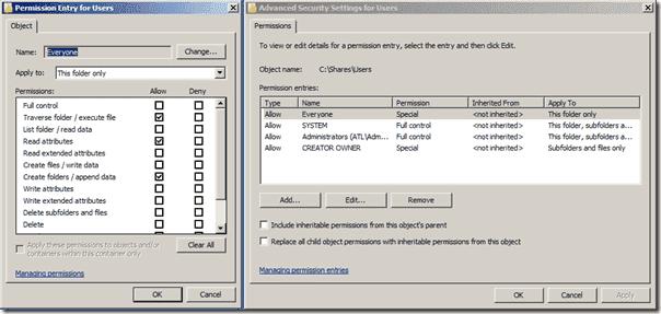 Folder Redirection - File Permissions
