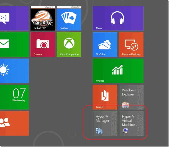 Hyper-V Windows 8 - Metro