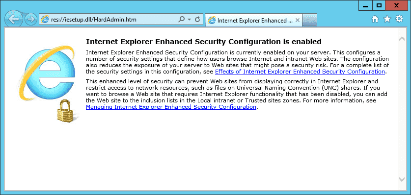 How to disable Internet Explorer Enhanced Security Configuration (IE
