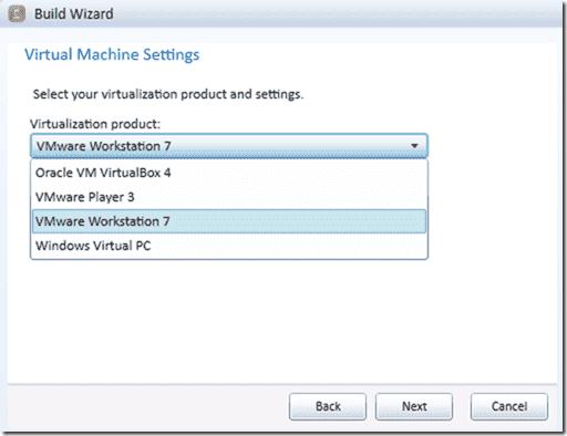 SmartDeploy OS deployment - Build Wizard