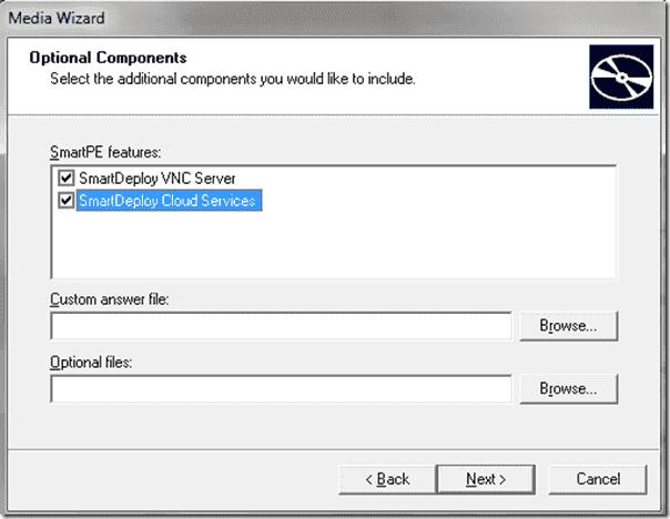 SmartDeploy OS deployment - Cloud Services