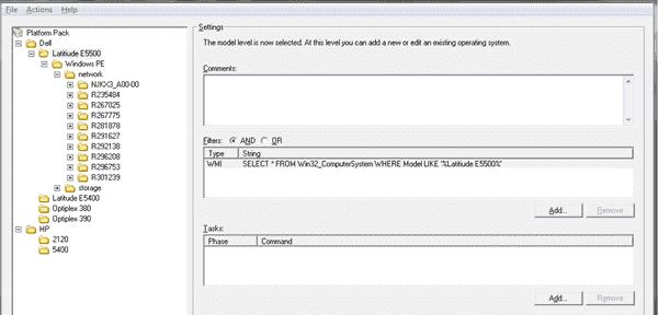SmartDeploy OS deployment - Platform Packs scope