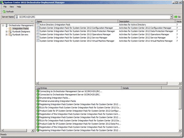 System Center Orchestrator 2012 RTM Deployment Manager