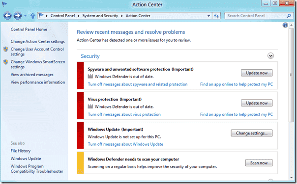 Windows 8 - Antivirus