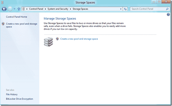 Windows 8 - Storage Spaces