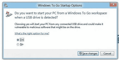 Windows To Go - Startup Options