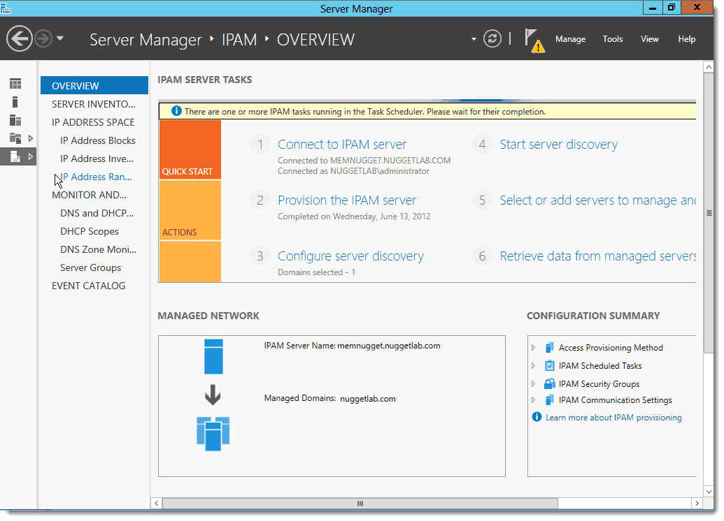 IP Address Management (IPAM) in Windows Server 2012 - 4sysops