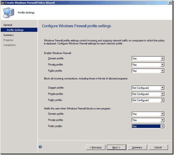 System Center 2012 Endpoint Protection - Configuration Windows Firewall