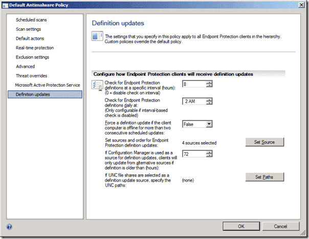 System Center Endpoint Protection - Definition Updates