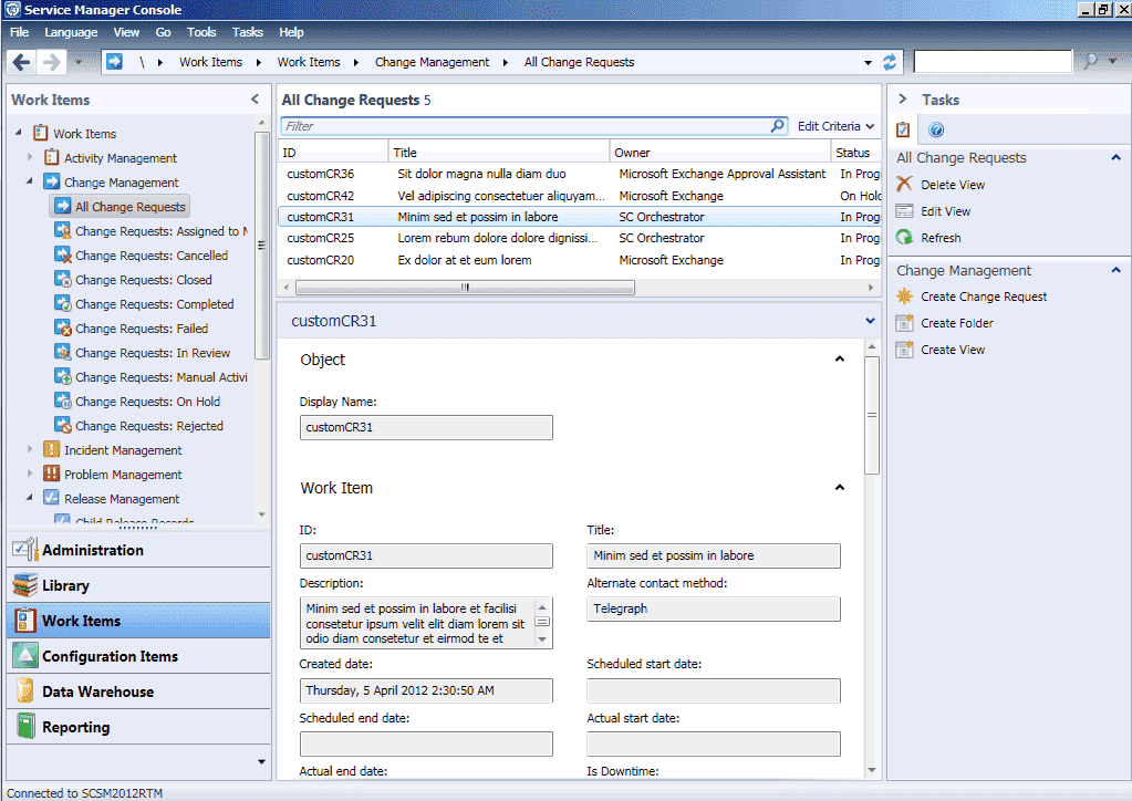 System Center Service Manager 2012 – Part 4: Service