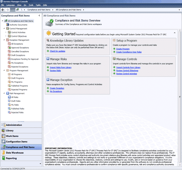 System Center Service Manager - IT GRC Pack