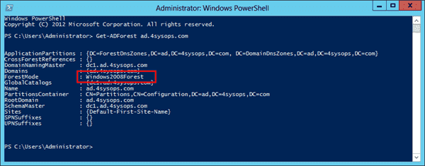 Windows Server 2012 Active Directory Recycle Bin - Forest Functional Level