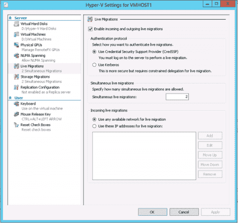 Windows Server 2012 Hyper-V - Part 2: Live Migration and network adapters