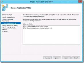 Windows Server 2012 Hyper-V Replication - Choose Replication VHDs