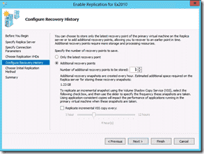 Windows Server 2012 Hyper-V Replication - Configure Recover History