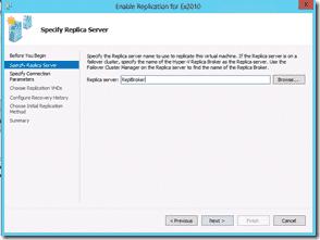Windows Server 2012 Hyper-V Replication - Specify Replica Server 2
