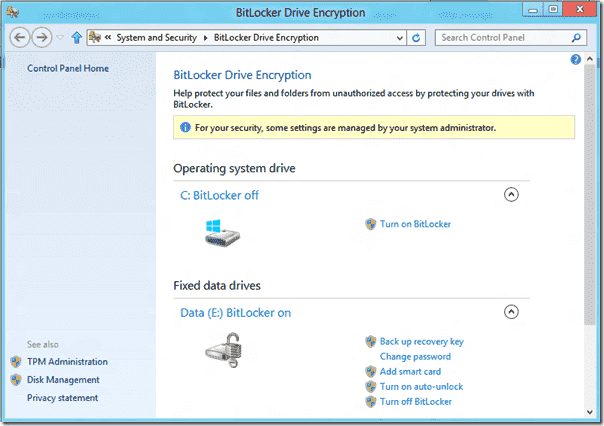 bitlocker windows 8