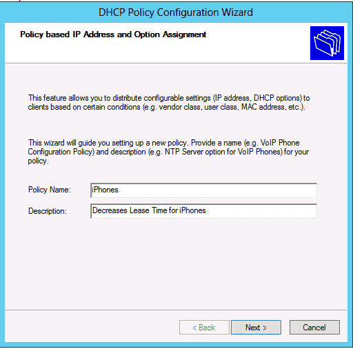 Windows Server 2012 – DHCP Policy Based Assignment – 4sysops