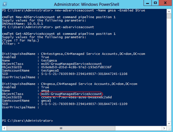 Windows Server 2012 - Group Managed Service Accounts