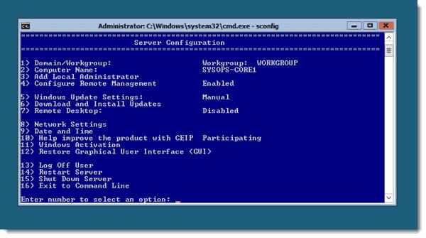 Windows-Server-2012 - Server Core