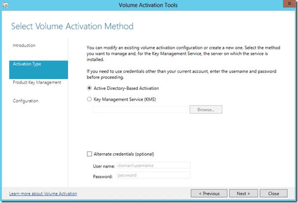 Windows Server 2012 - Volume Activation Services