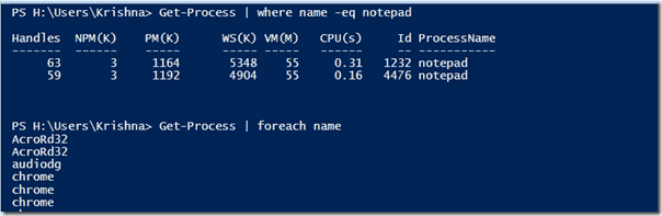 where-object and foreach-object in PowerShell 3.0