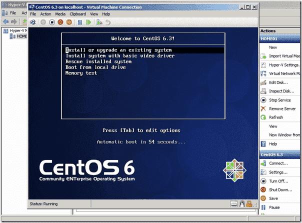CentOS minimal installer