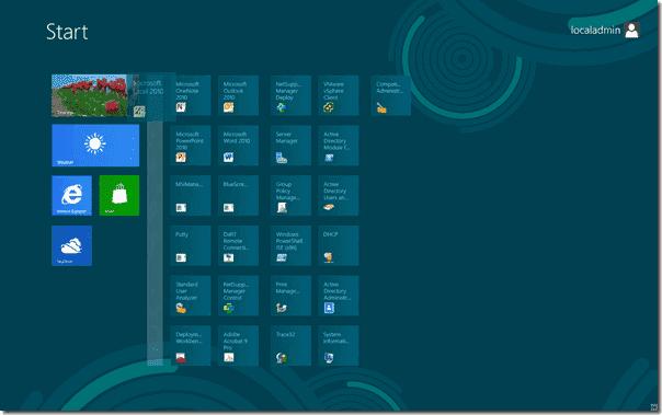 Modern User Interface - Organize live tiles into groups