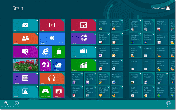 Modern User Interface – Remove a live tile