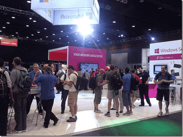TechEd Australia 2012 - Microsoft stand