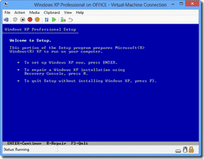 Windows 8 XP Mode - Install Windows XP