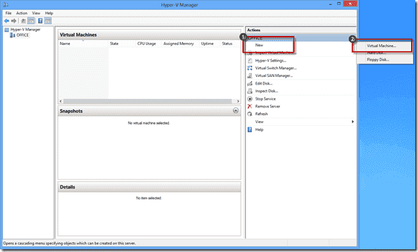 Windows 8 XP Mode - New Hyper-V Virtual Machine