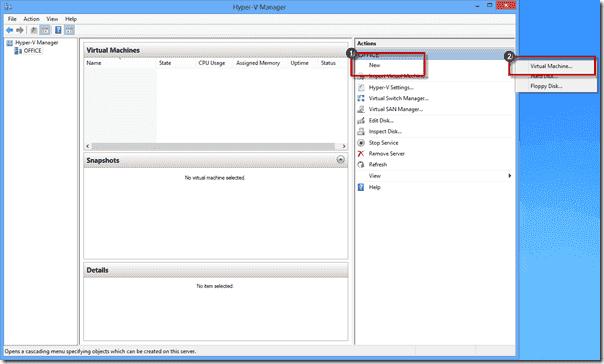Windows 8 XP Mode - New Hyper-V Virtual Machine