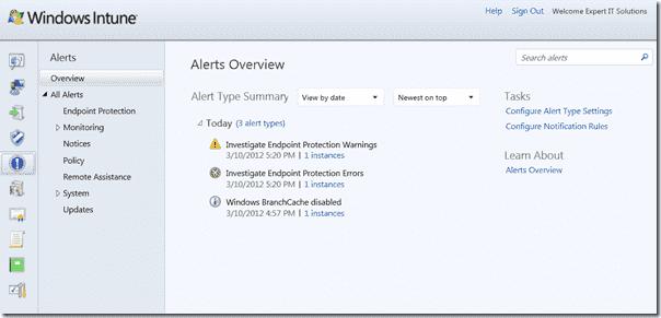Windows Intune 3 - Alerts