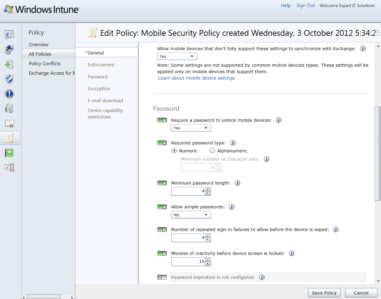 Windows Intune 3 Review Part 2 Mobile Device Management