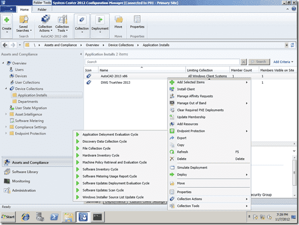 SCCM 2012 Right-Click Tools - Collection Actions