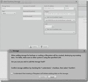 Unitrends Backup - Add Vaulting Storage
