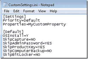 Windows 8 Deplosment -Our Default CustomSettings.ini file