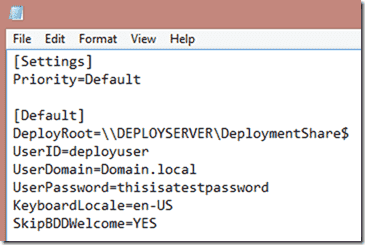 Windows 8 deployment - A sample boot strap file