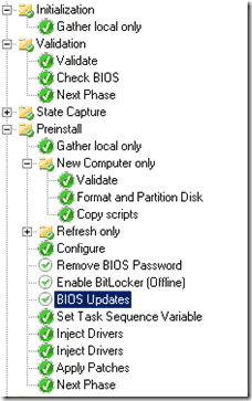 Windows 8 deployment - In our environment, the task is named BIOS Updates