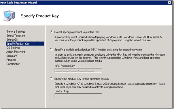 Windows 8 deployment - Specify product key