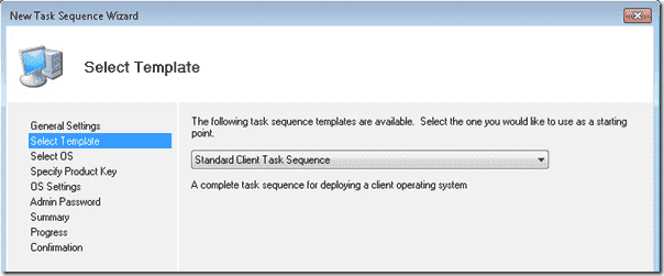 Windows 8 deployment - Standard Client Task Sequence