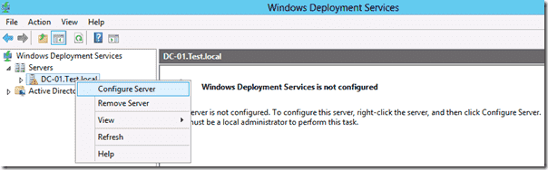 Windows 8 deployment - WDS mmc