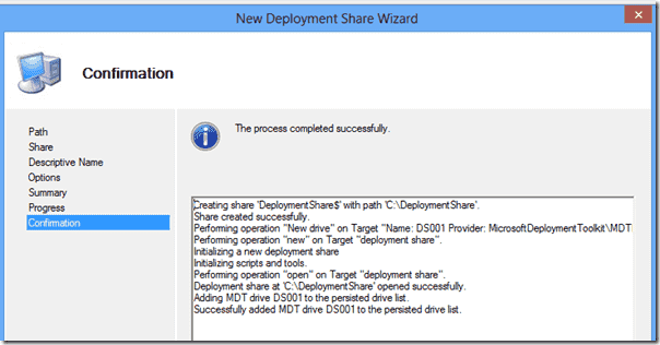 Windows 8 deployment - Your new Deployment Share!