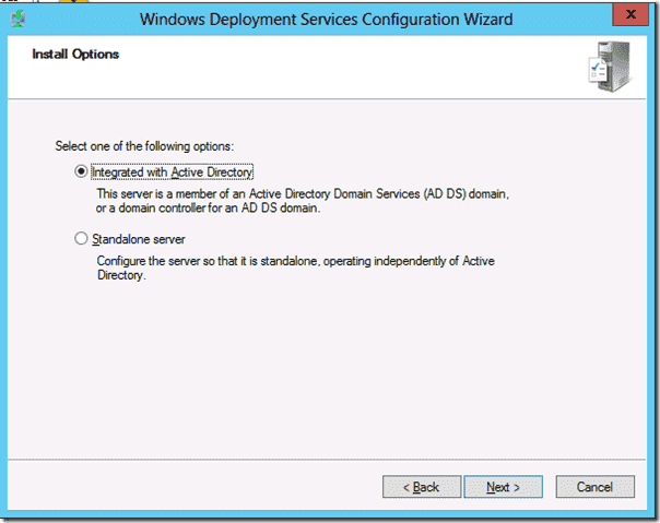 Windows Deployment Services - Integrate with Active Directory